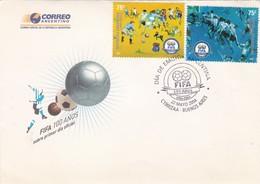 2004 FDC ARGENTINE- FIFA 100 AÑOS. SOCCER FUTBOL. OBLITERE BUENOS AIRES- BLEUP - Copa America
