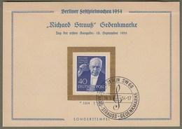 "Berlin: Sonderkarte, Mi.-Nr. 124  ESST: "" Richard Strauß Gedenkmarke  ""  X - Storia Postale"