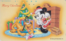 Télécarte Japon / 110-180833 - DISNEY - Série NOEL 13/25 - CHRISTMAS Series MICKEY & PLUTO Japan Phonecard - Disney