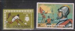 COOK ISLANDS Scott # 175, 427 MH - Tennis & Explorer Balboa - Cook Islands