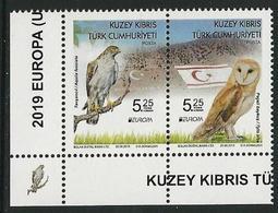 "CHIPRE TURCO /TURKISH CYPRUS /TÜRKISCH ZYPERN  -EUROPA 2019 -NATIONAL BIRDS.-""AVES -BIRDS -VÖGEL -OISEAUX""-SERIE CH-C - 2019"