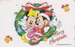 Télécarte Japon / 110-180834 - DISNEY - Série NOEL 14/25 - CHRISTMAS Series  MICKEY MINNIE Japan Phonecard / Cloche Bell - Disney