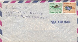 1967 COVER AIRMAIL JAMAICA- CIRCULEE A CHICAGO, USA- BLEUP - Jamaique (1962-...)