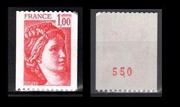 FRANCE 1978 -  Y.T. N° 1981 - NEUF** / CHIFFRE - Ungebraucht