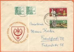 GERMANIA - GERMANY - Deutschland - ALLEMAGNE - DDR - 1961 - 1000 Jahre Halle/Saale + 2 X 10 Wartburg - FDC - Viaggiata D - FDC: Buste