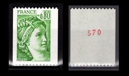 FRANCE 1978 -  Y.T. N° 1980 - NEUF** / CHIFFRE - Ungebraucht