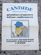 Candide N° 319 Bis. 1930. Illustrateur J. Sennep. Aristide Briand. Satire Caricature. Grand Format - Journaux - Quotidiens