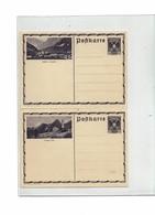 FAL14 - AUTRICHIE 2 CARTES POSTALES NEUVES DE LA SERIE PAYSAGES DE 1935 MICHEL P 297 - Stamped Stationery