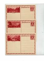 FAL14 - AUTRICHIE 3 CARTES POSTALES NEUVES DE LA SERIE PAYSAGES DE 1935 MICHEL P 298 (1 CP AVEC DEFAUT) - Stamped Stationery