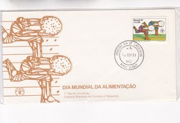 1991 COVER FDC BRAZIL- DIA MUNDIAL DA ALIMENTAÇAO. OBLITEREE MINAS GERAIS - BLEUP - Alimentation