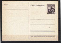 FAL14 - AUTRICHE  SERIE DE 2 CARTES POSTALES NEUVES  MICHEL P 332/333 LEGER PLI SUR LA PARTIR REPONSE - Stamped Stationery