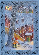 Postal Stationery - Birds - Bullfinches - Winter Scene - Elf - Cancer Foundation - Suomi Finland - Postage Paid - RARE - Finlandia