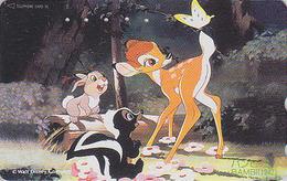 Télécarte Japon / 110-139342 - DISNEY Série Film - BAMBI 2/3 - Japan Movie Phonecard 1 - Disney