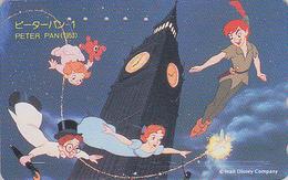 Télécarte Japon / 110-174706 - DISNEY - Série Film 1/3 - PETER PAN & FEE CLOCHETTE 2 - TINKERBELL Japan Movie Phonecard - Disney