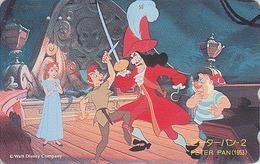 Télécarte Japon / 110-174707 - DISNEY - Série Film 2/3 - PETER PAN / Combat à L'Epée - Japan Phonecard Telefonkarte - Disney