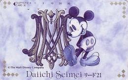 Télécarte Japon DISNEY / 110-83204 - Dai Ichi Life Mickey - Japan Phonecard Versicherung Insurance Assu - Disney