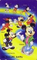 Télécarte Japon / 110-178804 - DISNEY - MICKEY Evolution à Travers Le Temps 1 - Japan Phonecard Telefonkarte Assu - Disney
