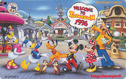 Télécarte Japon DISNEY / 110-175385 - Série TOONTOWN - Japan Phonecard Telefonkarte - Amusement Park ATT - Disney
