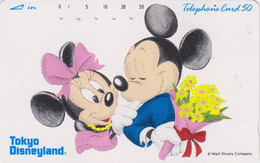 Télécarte Japon  / 110-86441 - DISNEY - Disneyland / Mickey & Minnie Bouquet Japan Phonecard - Disney