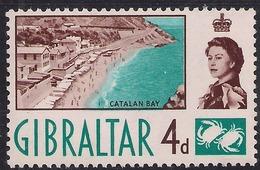 Gibraltar 1960 - 62 QE2 4d Catalan Bay Umm SG 165 ( 1106 ) - Gibilterra
