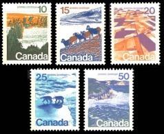 Canada (Scott No. 594a-98a - Paysages / Landscape)+ [**] Perforation 13.3 - Série / Set - 1952-.... Règne D'Elizabeth II