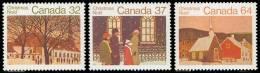Canada (Scott No.1004-06 -  Noël / 1984/  Christmass) [**] Serie De 3 / Set Of 3 - 1952-.... Règne D'Elizabeth II