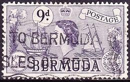 BERMUDA 1958QEII 9dViolet SG143b Used - Bermuda
