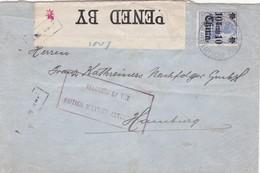 DP In China: Brief Nach Hamburg/Britische Zensur - Bureau: Chine