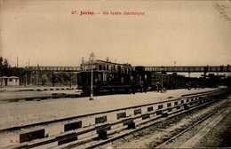 91- JUVISY....UN TRAIN ELECTRIQUE  ..CPA ANIMEE - Juvisy-sur-Orge