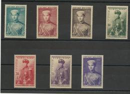 Vietnam 1954 N° 22 à 28 Neufs** MNH Prince Bao Long, Cote YT 37€ - Vietnam