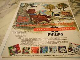 ANCIENNE  PUBLICITE LIVRE DISQUE OURS COLARGOL DE PHILIPS  1963 - Music & Instruments