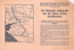 WWII WW2 Flugblatt Tract Leaflet Soviet Propaganda Against Germany  CODE 2370 - 1939-45