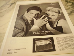 ANCIENNE  PUBLICITE TRANSISTORS SIEMENS 1963 - Musik & Instrumente