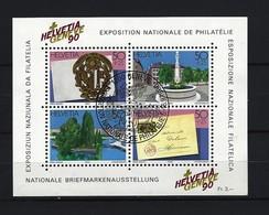 SCHWEIZ Block Mi-Nr. 26 - Nationale Briefmarkenausstellung HELVETIA GENEVE '90, Genf Gestempelt - Blocks & Kleinbögen