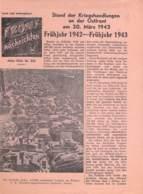 "WWII WW2 Flugblatt Tract Leaflet Soviet Propaganda Against Germany ""Frontnachrichten"" März 1943 Nr. 225  CODE 2440 - 1939-45"