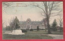 Soignies- Statue Du Travail , Le Square ... Gare En Arrière-plan - 1912  ( Voir Verso ) - Soignies