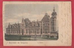 Soignies - La Station ... Jolie Carte Couleur... Précurseur 1901 ( Voir Verso ) - Soignies