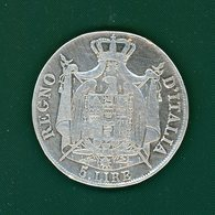 5  Lire  1808m - Temporary Coins