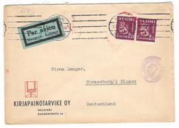 19540 - Avec Censure  Pour L'Allemagne - Finnland