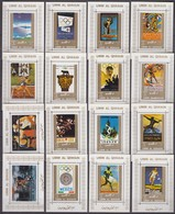 Umm Al-Quwain 1972 WHITE PERF Mi # 1098-113 16 Einzelblocks, Olympic Games History, Munich Summer Olympics, MNH OG - Verano 1972: Munich