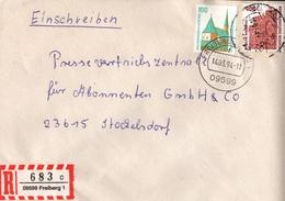 ! 1 Einschreiben 1994  Mit  R-Zettel  Aus Freiberg, 09599, Sachsen - BRD