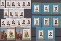Ajman 1971 Mi # 1237-44AB Bl 337AB + 8 Einzelnblocks Munich Olympic Soccer Tournament, 1974 FIFA World Cup MNH OG - 1974 – Westdeutschland