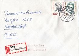 ! 1 Einschreiben  1994  Mit Selbstklebe R-Zettel  Aus Niederwürschnitz, 09399 - BRD