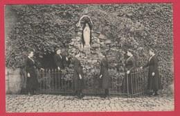 Soignies - Etablissement Des Religieuses - Pensionnat - Ecole Moyenne - La Grotte ... éléves  - 1914 ( Voir Verso ) - Soignies