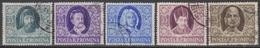 ROUMANIE 1955 5 TP Ecrivains N° 1405 à 1409 Y&T Oblitéré - Gebraucht