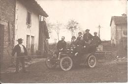CARTE PHOTO - VOITURE Ancienne Avec De Nombreuses Personnes Non Localisée - Passenger Cars