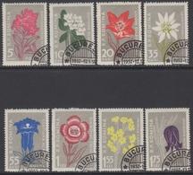 ROUMANIE 1957 8 TP Fleurs Diverses Des Carpates N° 1517 à 1524 Y&T Oblitéré - Gebraucht