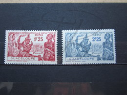 VEND BEAUX TIMBRES DE GUADELOUPE N° 140 + 141 , X !!! - Unused Stamps