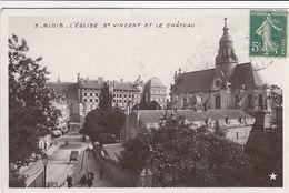 Cp , 41 , BLOIS , L'Église Saint-Vincent Et Le Château - Blois