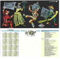 Calendrier De Poche De 1993 - Présentation Du Programme Philatélique - Carnaval - Calendarios